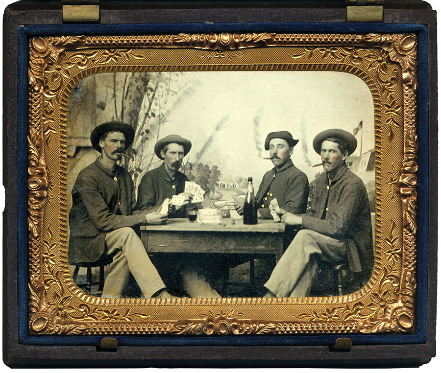 Quarter-plate tintype by Ansel R. Butts of St. Louis, Mo.
