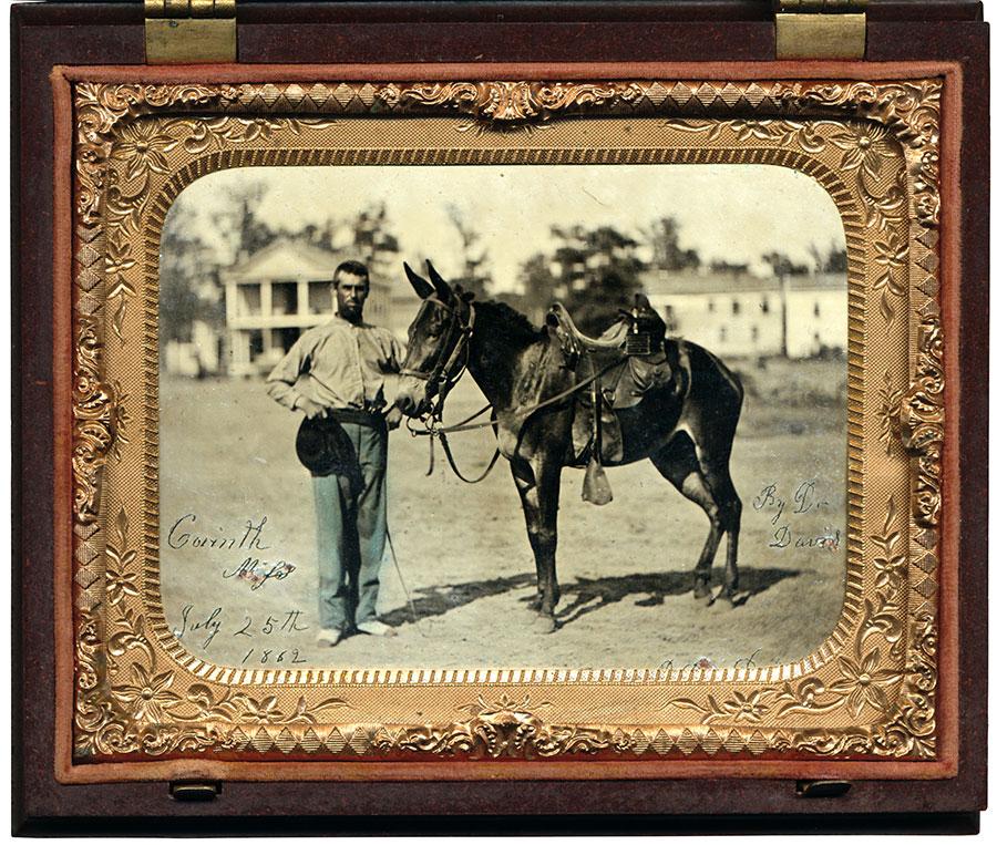 Quarter-plate tintype by L. Davis of Corinth, Miss.
