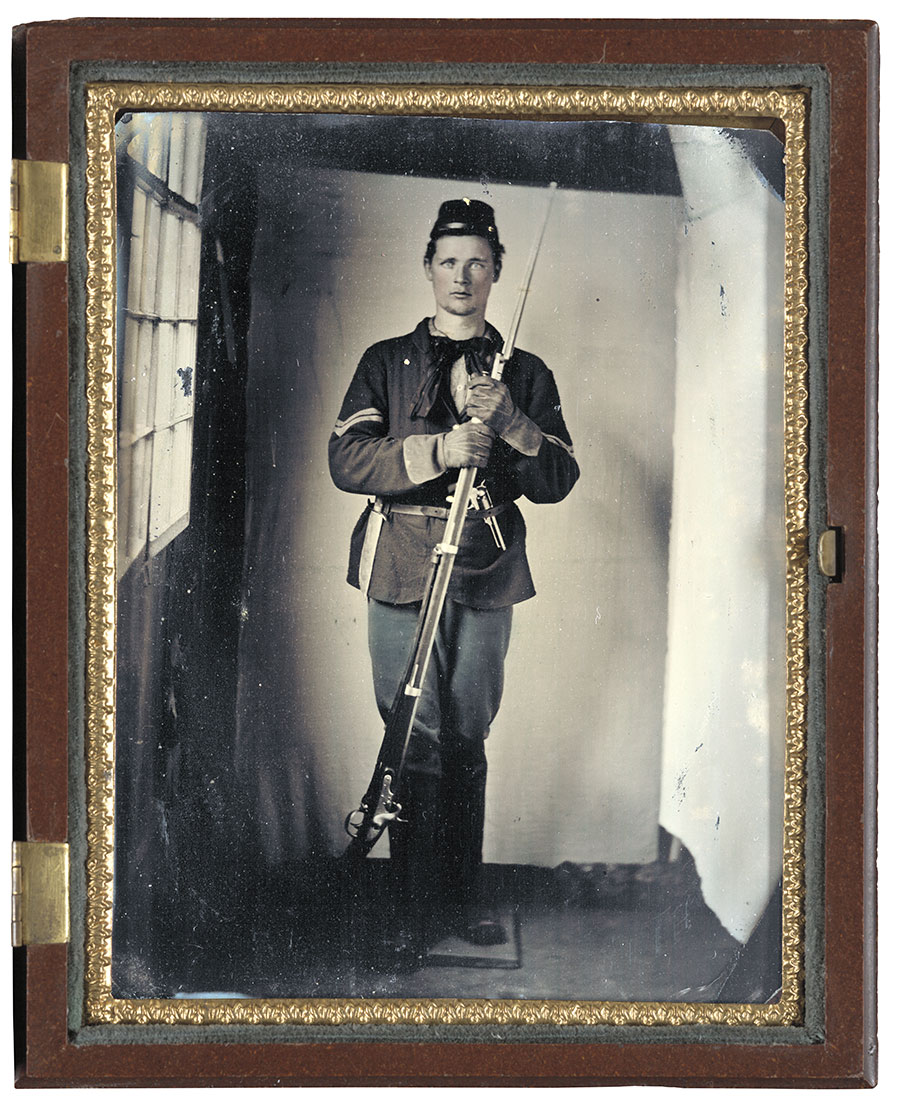 Quarter-plate tintype by an anonymous photographer. The Liljenquist Family Collection at the Library of Congress.