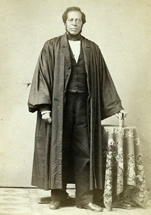 DEDICATED CHAPLAIN: Born free in Connecticut, Jeremiah Asher (1812-1865) served as the pastor of Shiloh Baptist Church in Philadelphia. He died of disease on July 27, 1865—the only African American chaplain to die in the Union army. Carte de visite by T. W. Searby of Philadelphia.