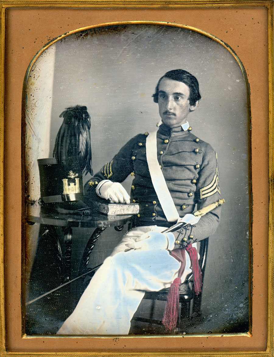 Half-plate daguerreotype by an anonymous photographer. Courtesy of Thomas Harris and Dan Moyer.