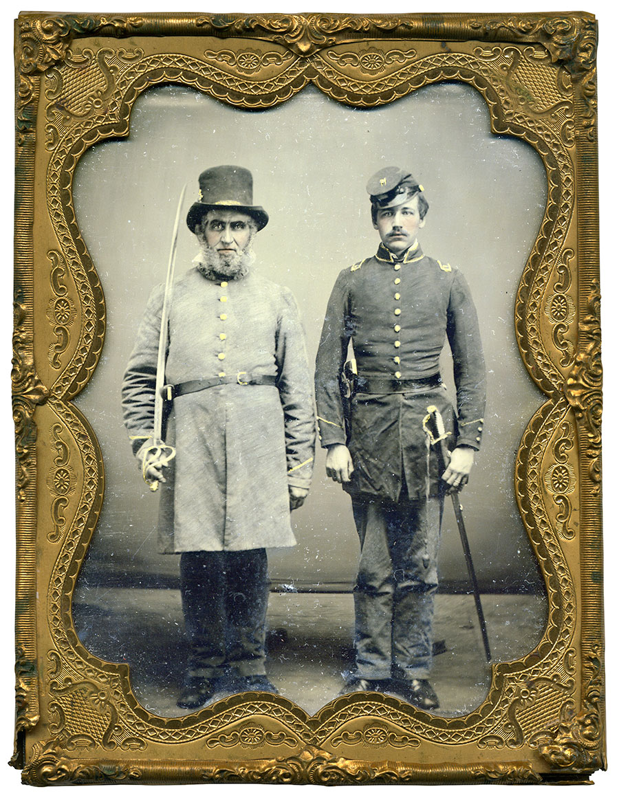Quarter-plate ambrotype by an anonymous photographer. Wayne Long collection.
