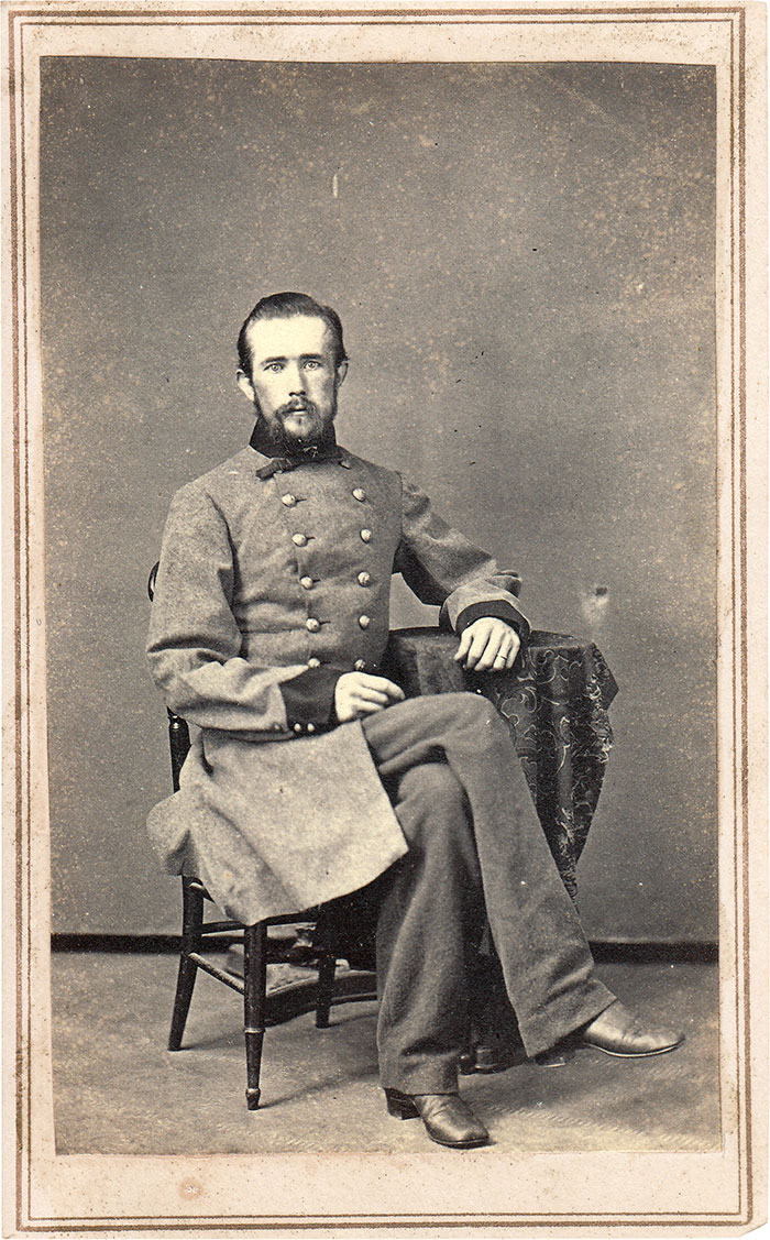 Surg. Martin sat for his carte de visite in B. Bingham's Gallery of Memphis after his release from Irving Block Prison. Author's collection.