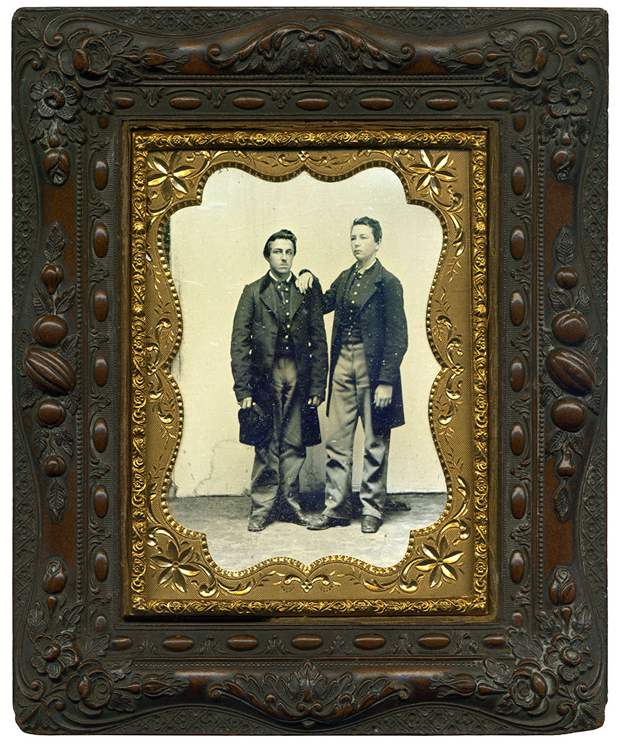 Quarter-plate tintype by an anonymous photographer. Don Carter collection.