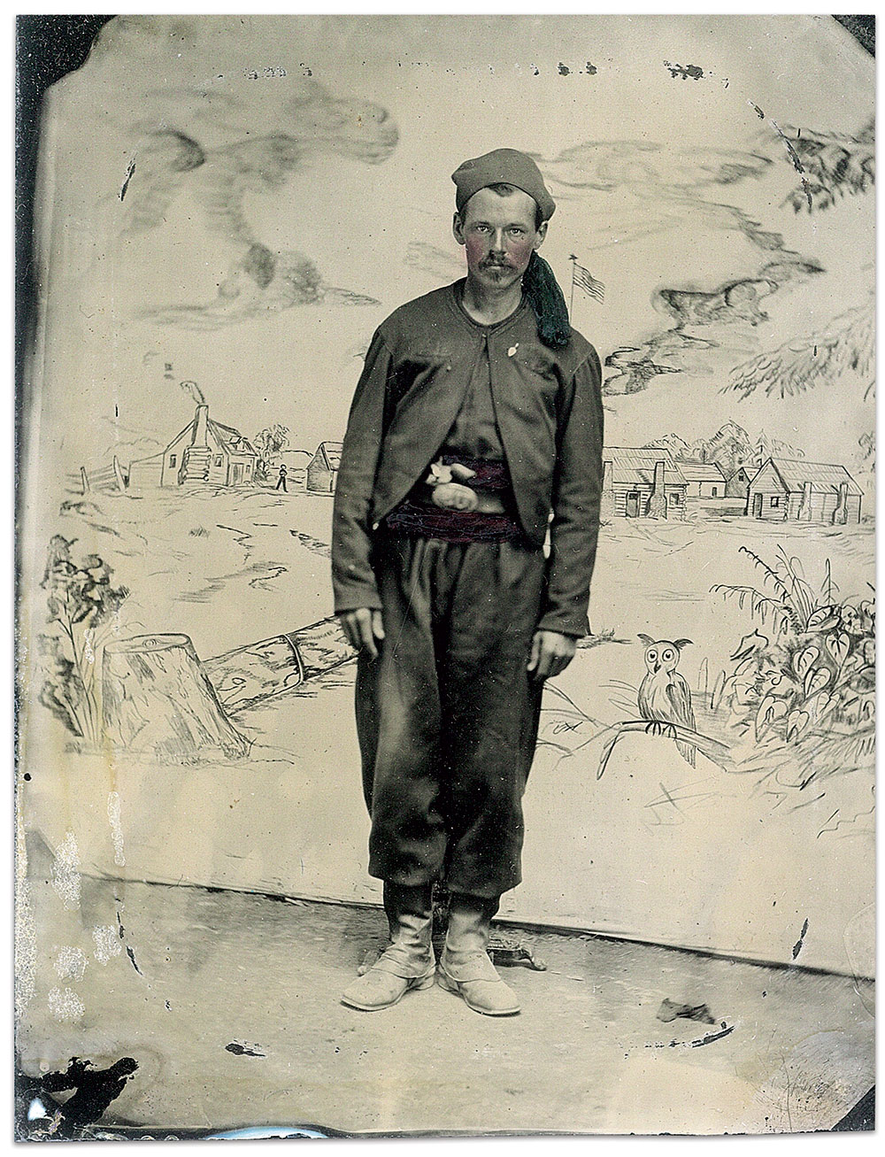 Quarter-plate ambrotype by an anonymous photographer. Anthony F. Gero Collection.