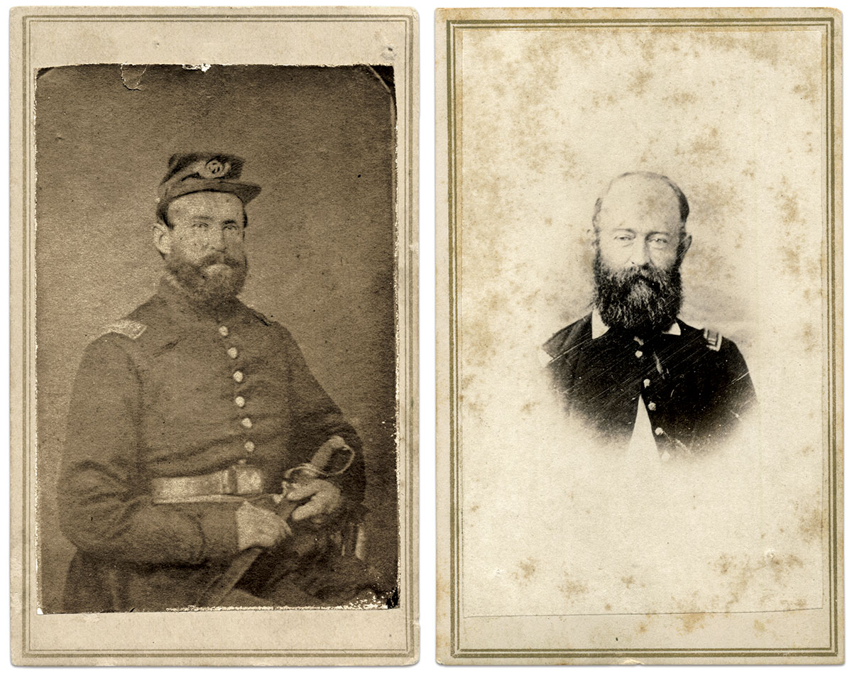 Two views of Lewis. Cartes de visite by T.W. Taylor of West Chester, Pa. Faye and Ed Max Collection.