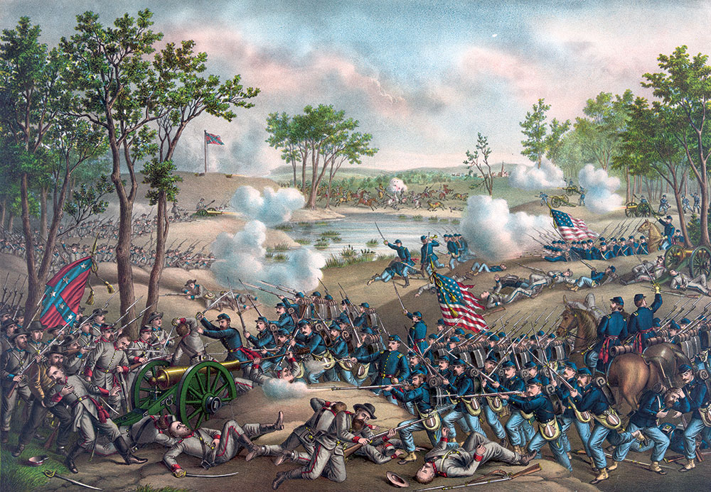 Battle of Cold Harbor byKurz & Allison. Library of Congress.
