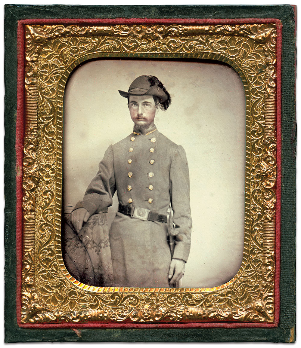 Sixth-plate ambrotype by an anonymous photographer. Larry Allen Collection.