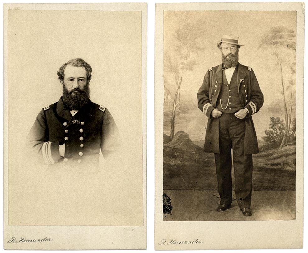 Craven as commander during his overseas service, circa 1862-63. Cartes de visite by Ramon Hernandez of Cadiz, Spain. Courtesy of Paul DeHaan.