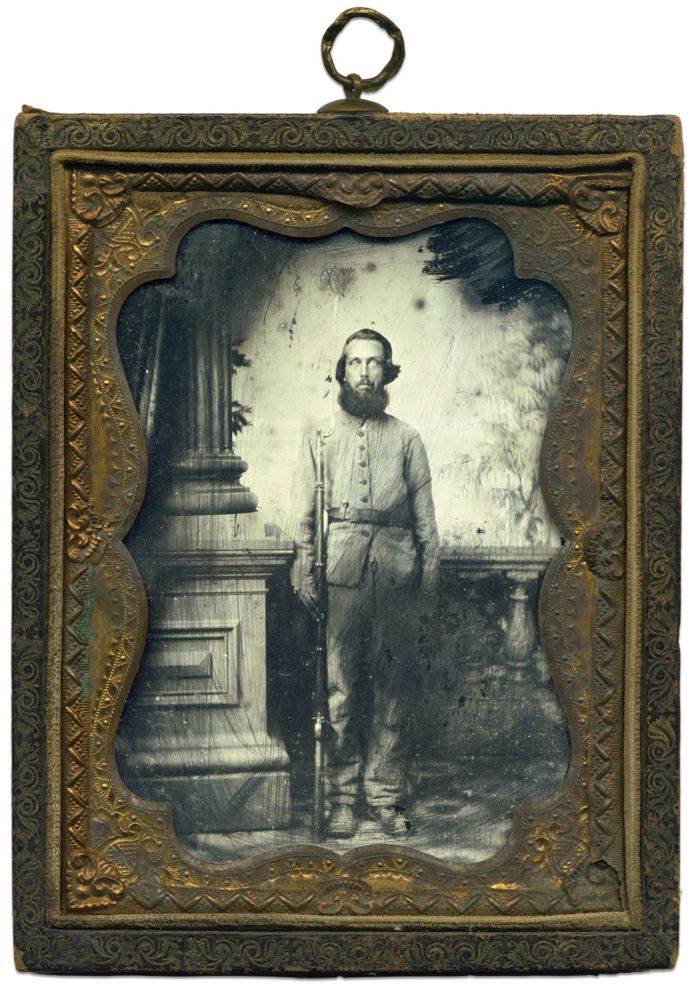 Quarter-plate tintype by Charles J. Quinby of Charleston, S.C. Terry Burnett Collection.