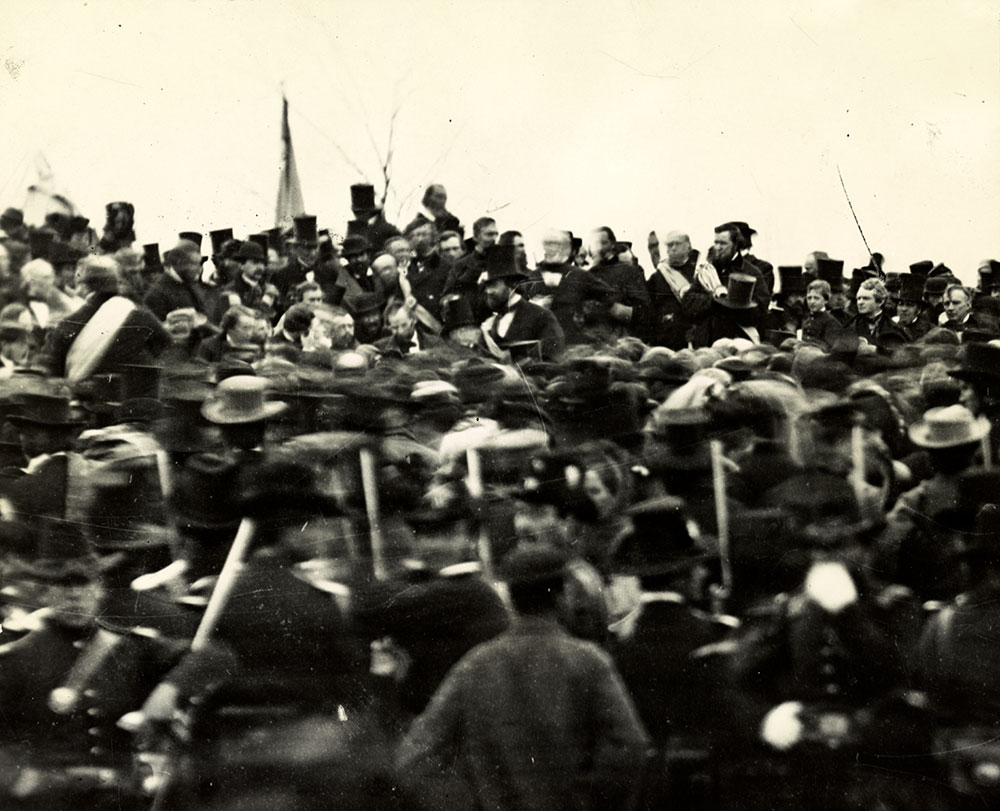 Lincoln at Gettysburg. National Archives/Library of Congress.