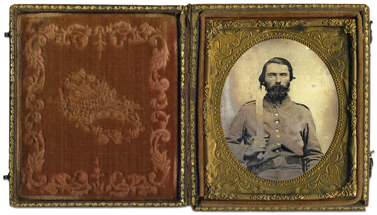 Sixth-plate tintype by an anonymous photographer. Charles Darden Collection.