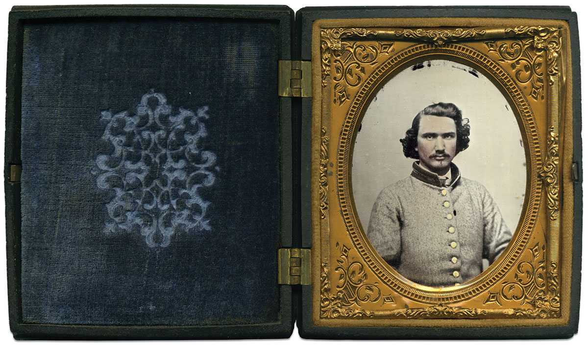 Sixth-plate ambrotype by an anonymous photographer. Terry Burnett Collection.