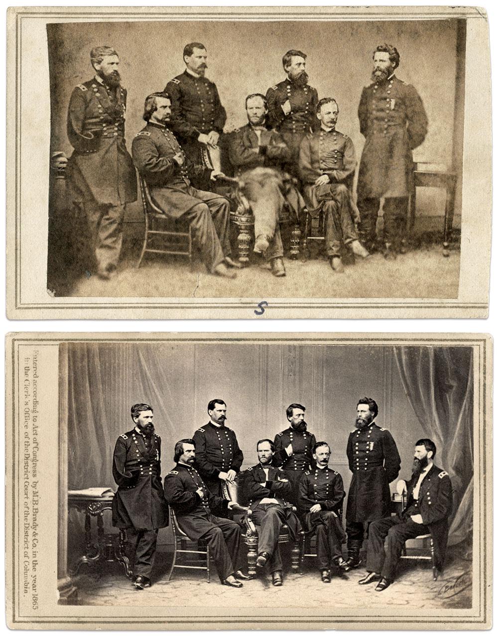 Carte de visite copied from the Brady original by Helleberg & Co. of Cincinnati, Ohio; Carte de visite by Mathew B. Brady of New York City and Washington, D.C.