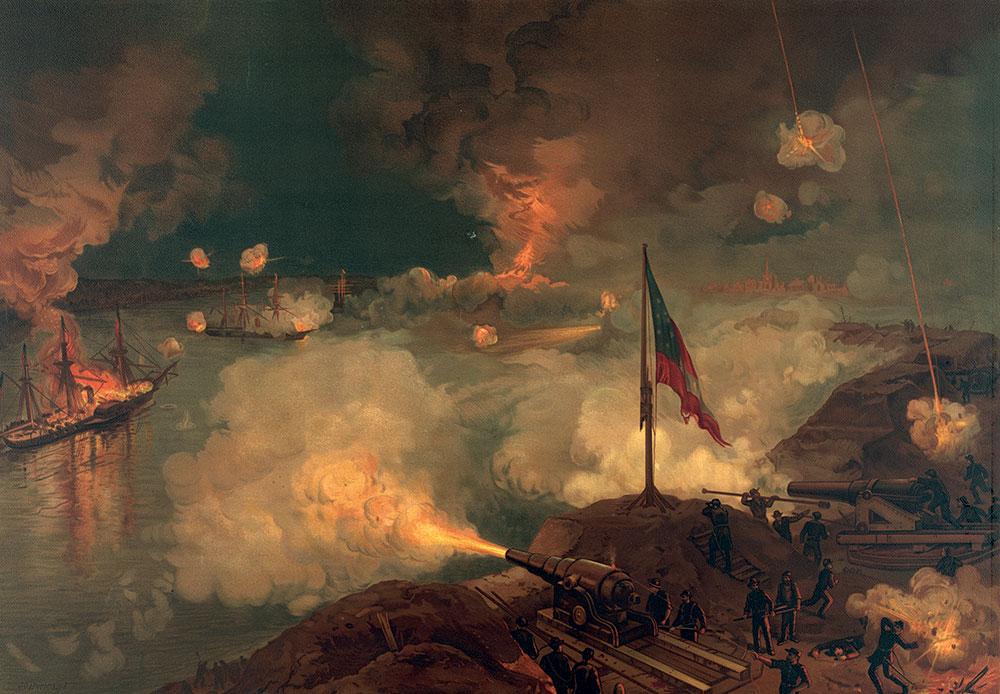The Battle of Port Hudson by J.O. Davidson, published by L. Prang & Co. in 1887.