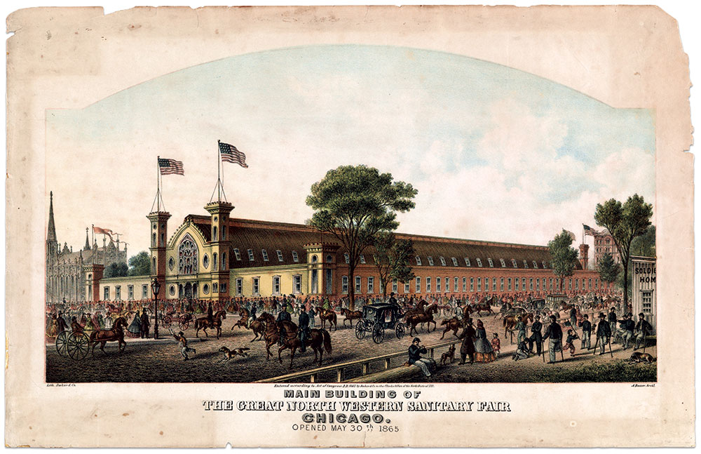 Main building of Chicago's Sanitary Fair. Library of Congress.
