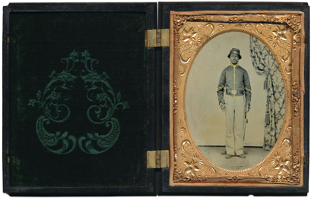 Quarter-plate tintype by an anonymous photographer. Brian Boeve Collection.