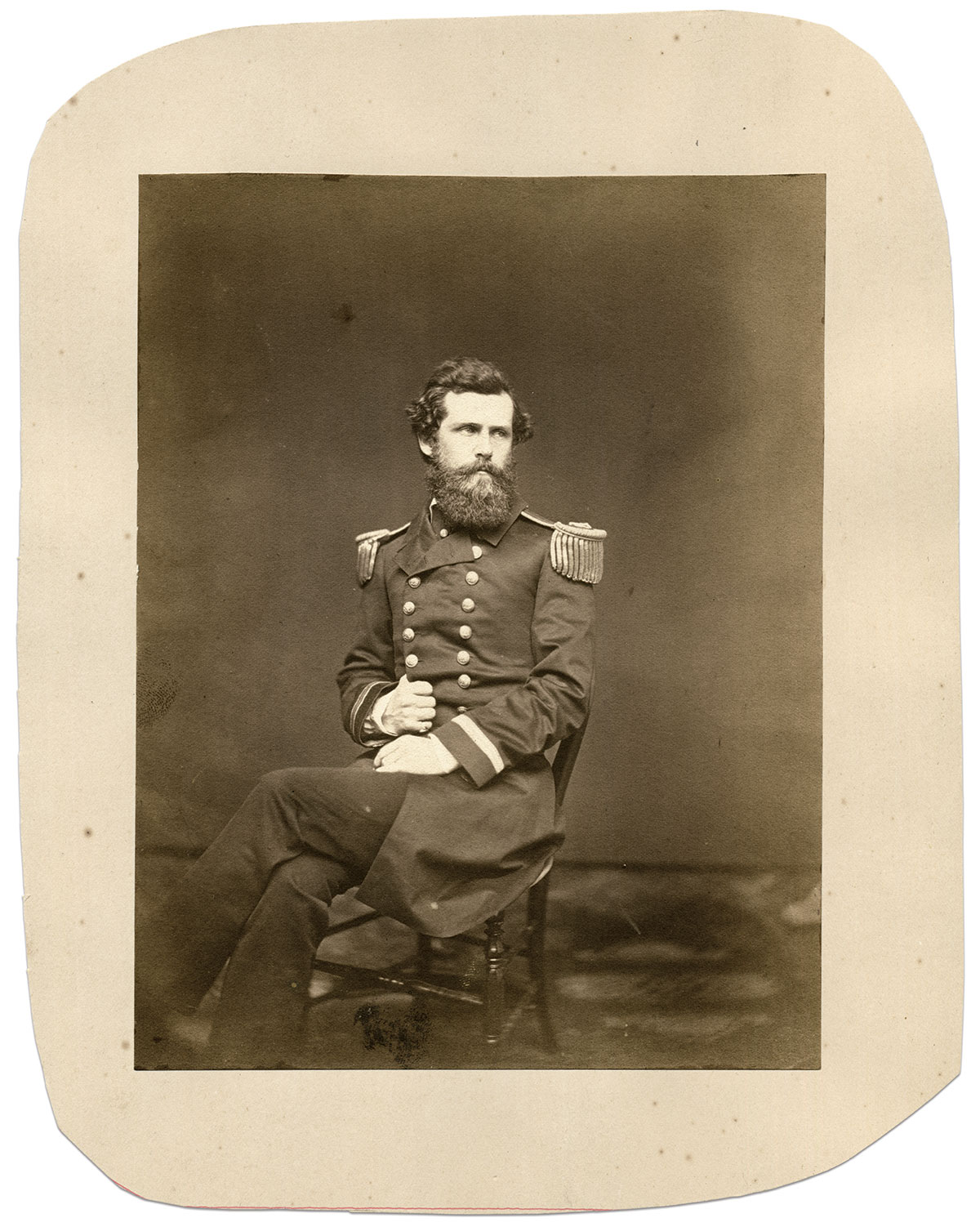 Craven pictured as a lieutenant before the war. Albumen print by an anonymous photographer. John Kuhl Collection.