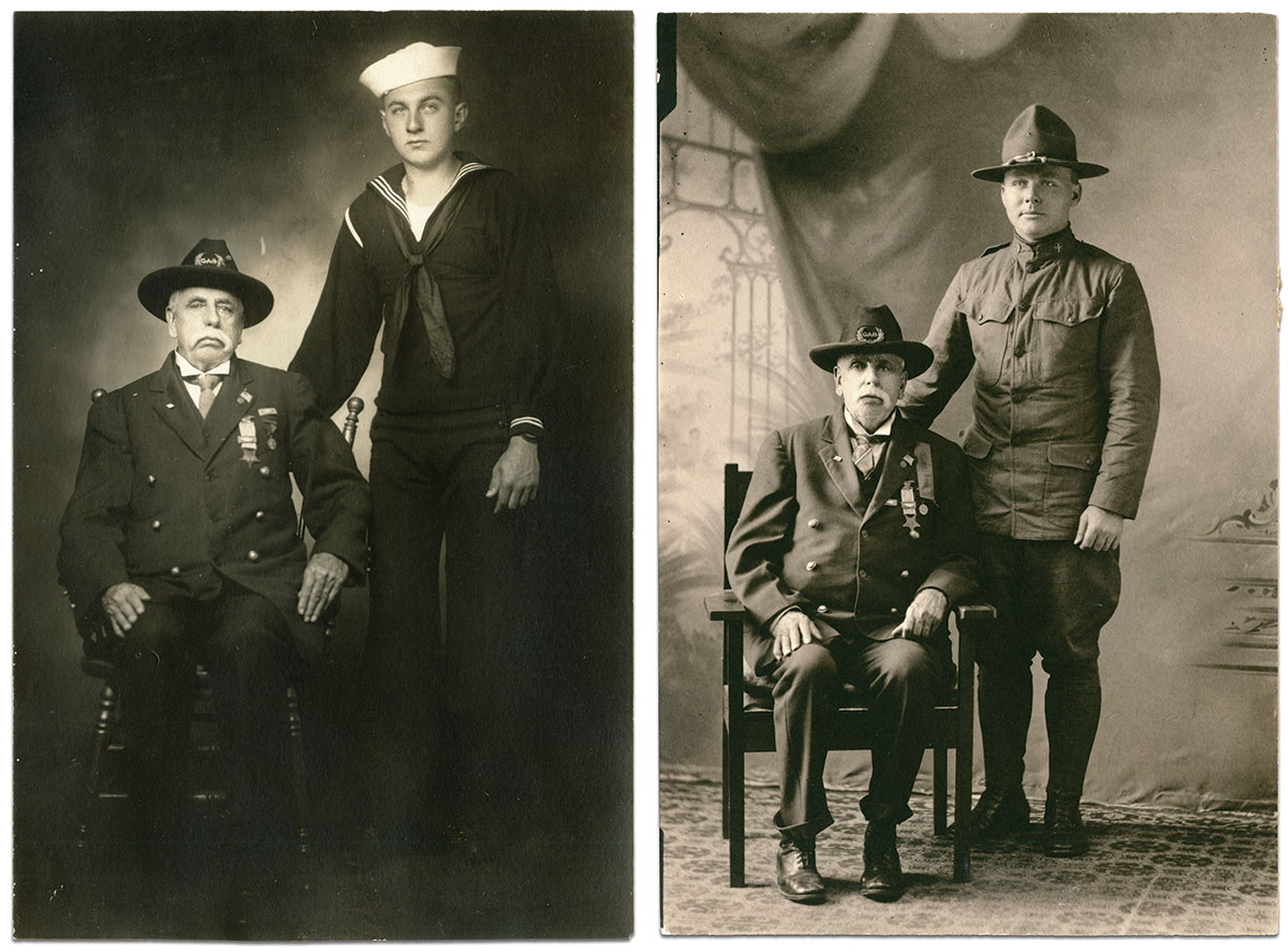 Real photo postcards by an anonymous photographer. Everitt Bowles Collection.