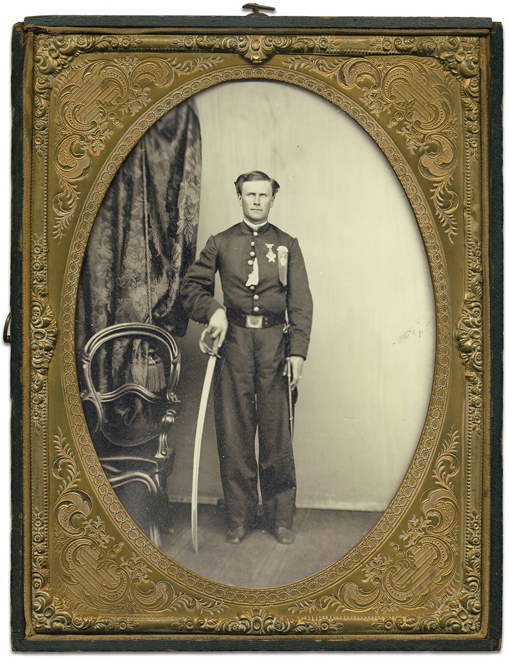 Full-plate ambrotype by an anonymous photographer.