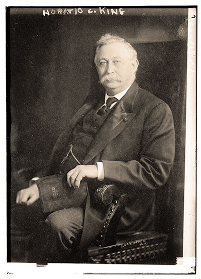 King, pictured late in life. Print by Rockwood of New York City. Bain News Service Collection, Library of Congress.
