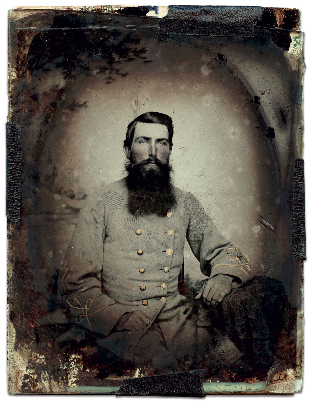Quarter-plate ambrotype by an anonymous photographer. Chris Anderson Collection.