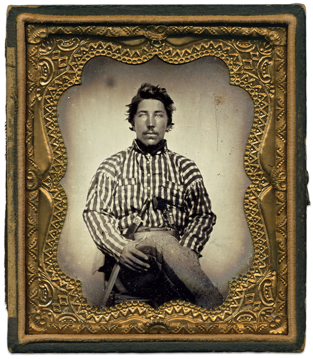 Sixth-plate tintype by anonymous photographer.