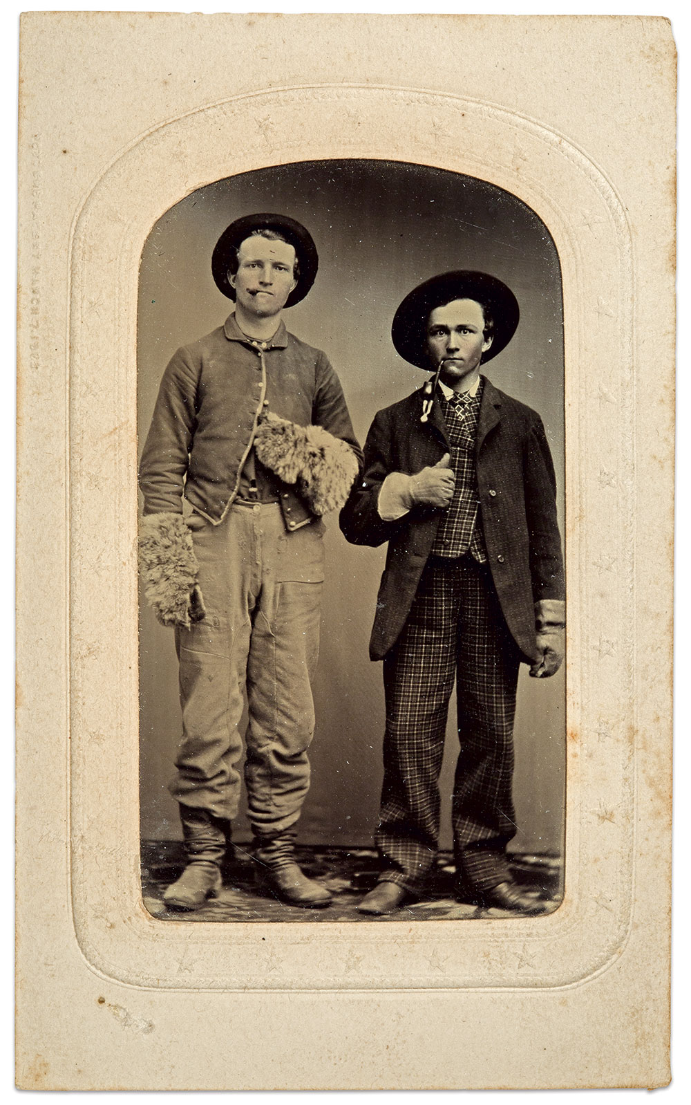 Eighth-plate tintype by an anonymous photographer. Dale Niesen Collection.