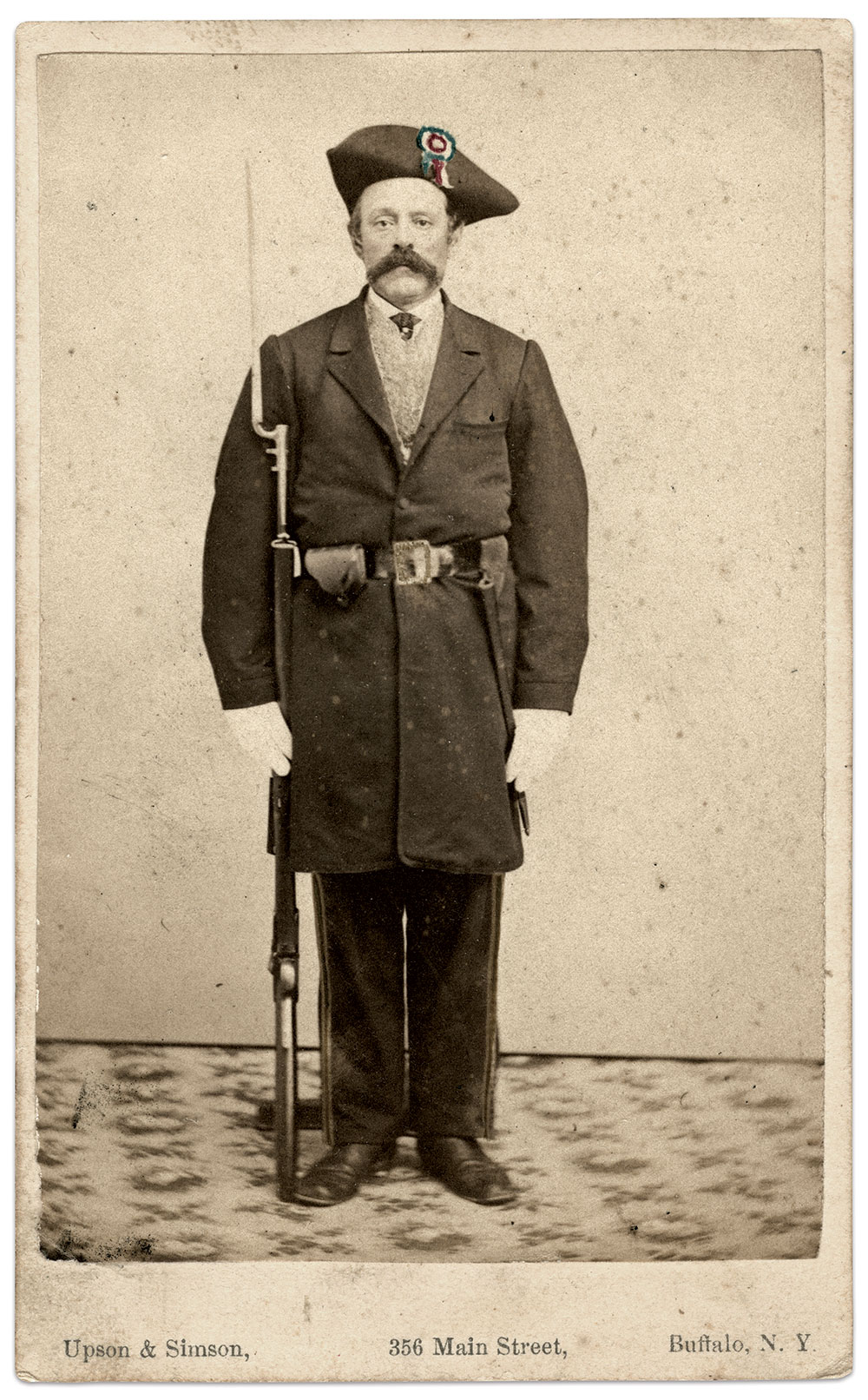 Carte de visite by Upson & Simson of Buffalo, N.Y. Ron Field Collection.
