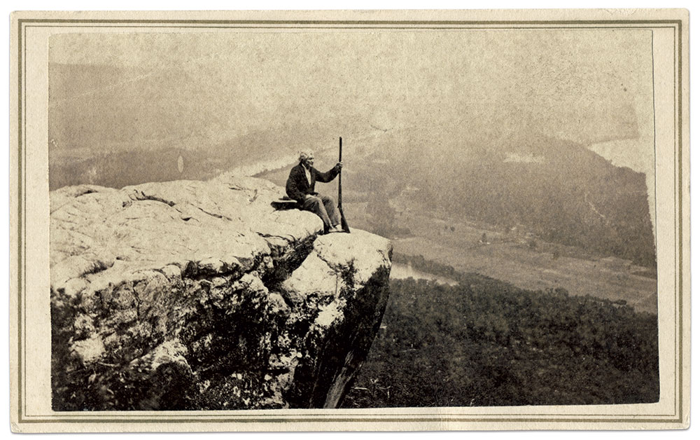 """GeorgeD. Foster: A staunch Unionist known for his colorful personality, Foster (about 1796-1873) had a long association with Lookout Mountain. Immensely popular with soldiers who visited the Point to be photographed, he claimed that generals Hooker and Sherman gave him his nickname— """"Old Man of the Mountain."""""""