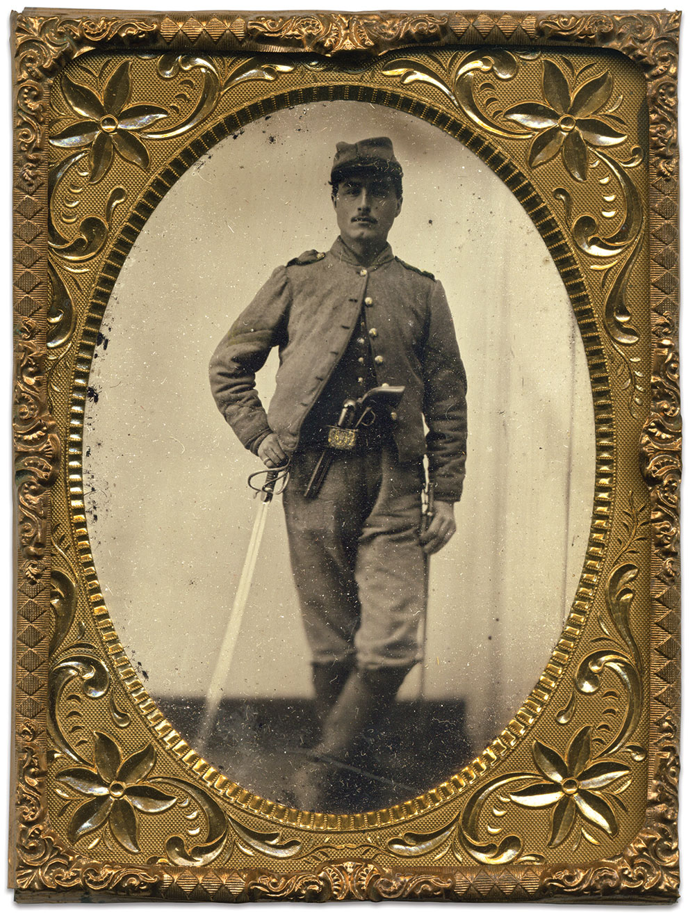 Quarter-plate ambrotype by an anonymous photographer. Dave Batalo Collection.