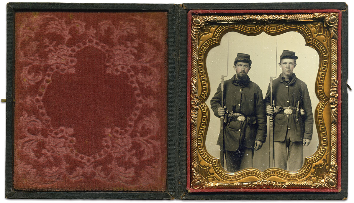 Sixth-plate ruby ambrotype by an anonymous photographer.