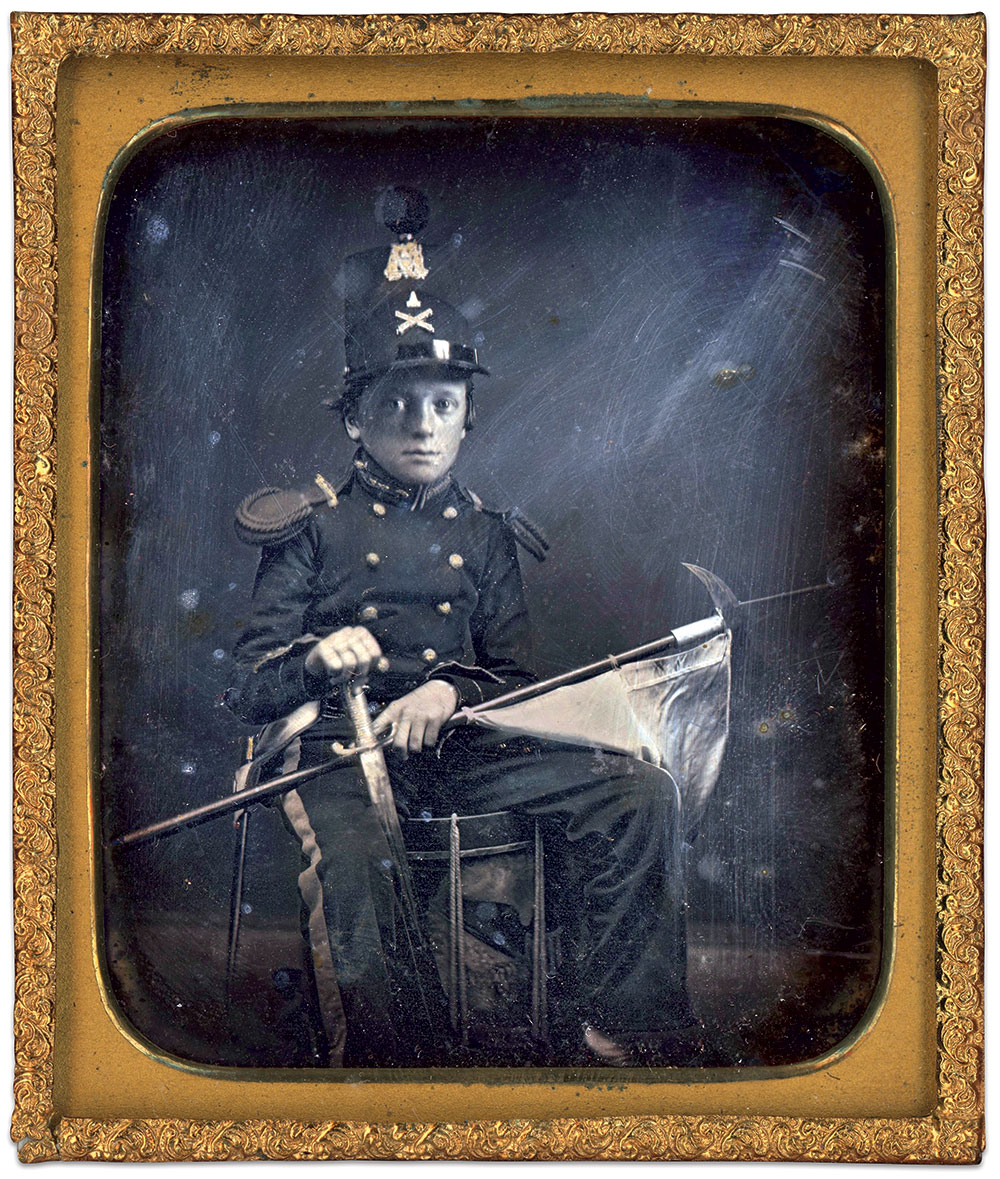 Sixth-plate daguerreotype by an unidentified photographer. Mike Medhurst Collection.