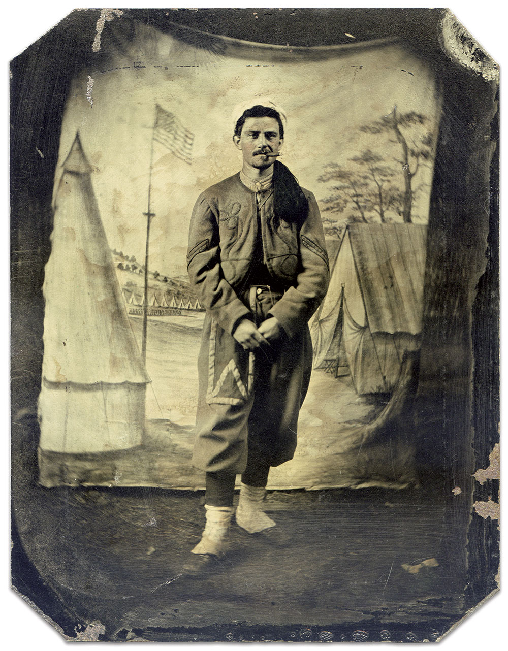 Sixth-plate tintype by an anonymous photographer. Patrick Schroeder Collection.