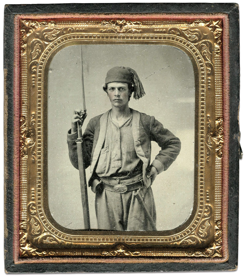 Sixth-plate ambrotype by and anonymous photographer.