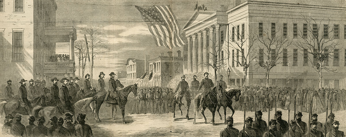 Williams is pictured with Maj. Gen. William T. Sherman in Savannah, Ga., in this engraving from the Feb. 11, 1865, issue of Harper's Weekly.