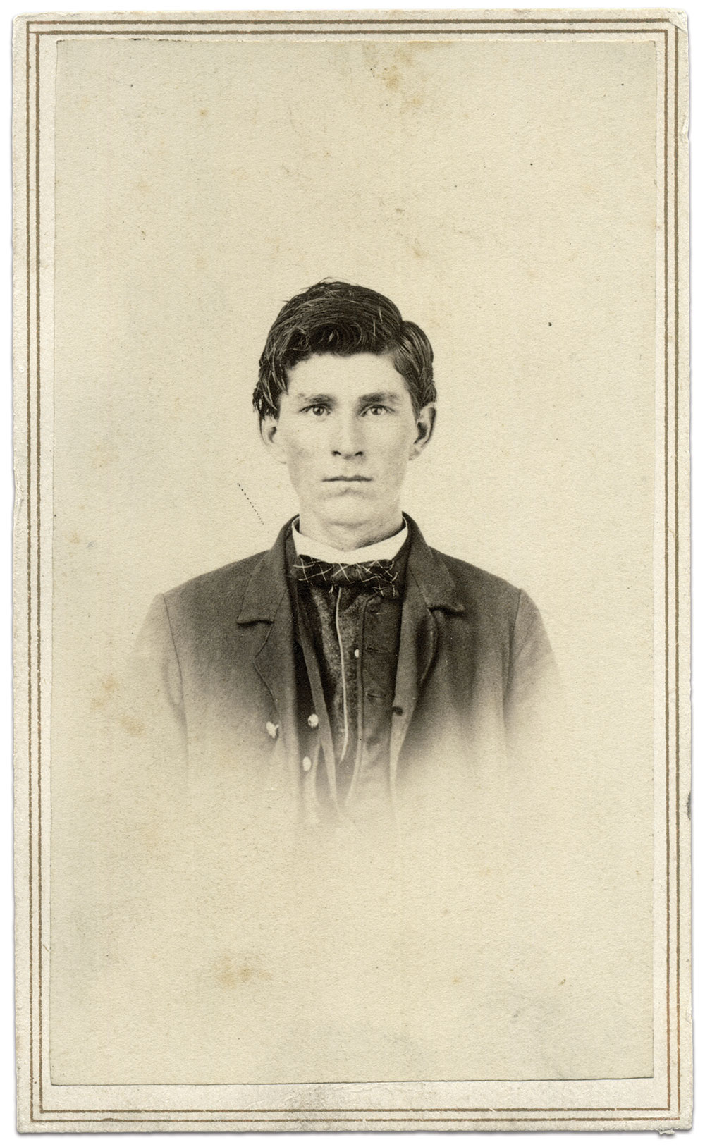 Carte de visite by Higgins & Turill of Jackson, Mich., and Elyria, Ohio. John Fuller Collection.