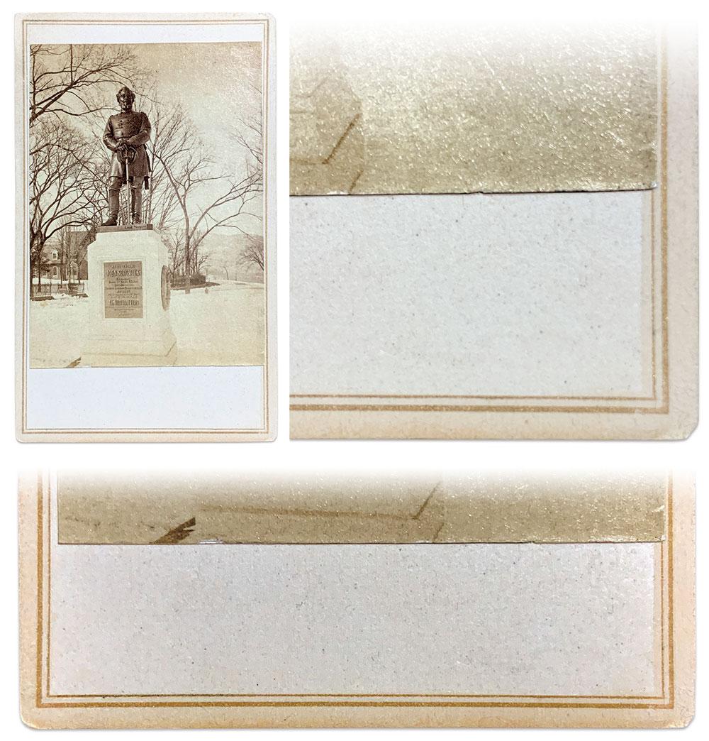 Sedgwick monument carte and details.