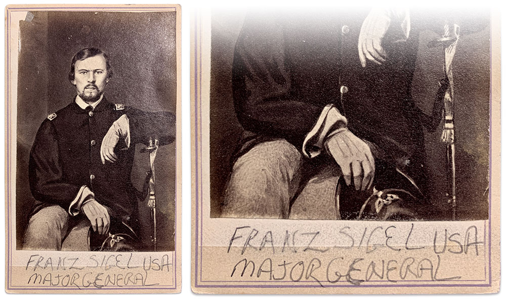Franz Sigel carte and detail view.