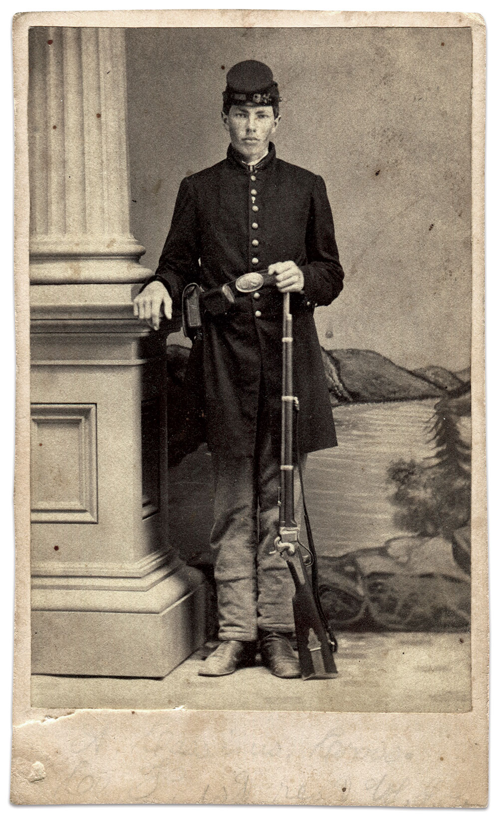 Carte de visite by an anonymous photographer. Dennis Charles Collection.