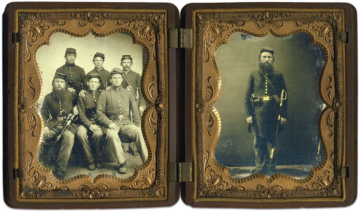 Quarter-plate tintypes by an anonymous photographer.