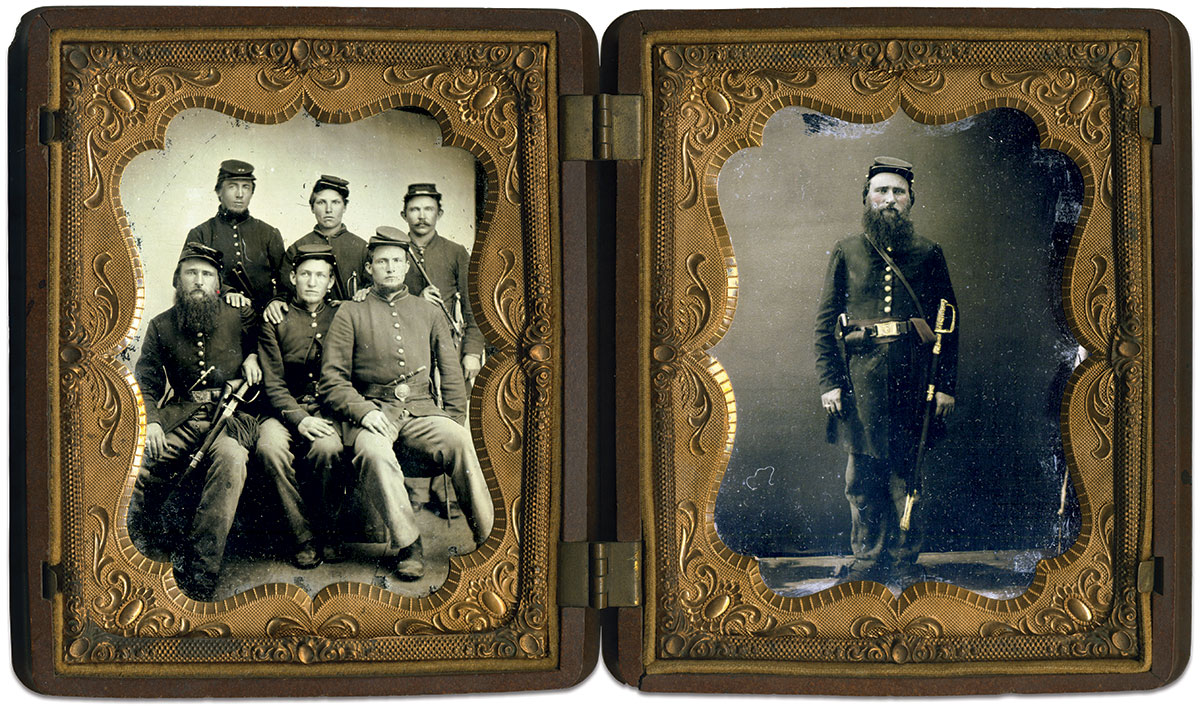 Quarter-plate tintypes by an anonymous photographer. Rich Jahn Collection.