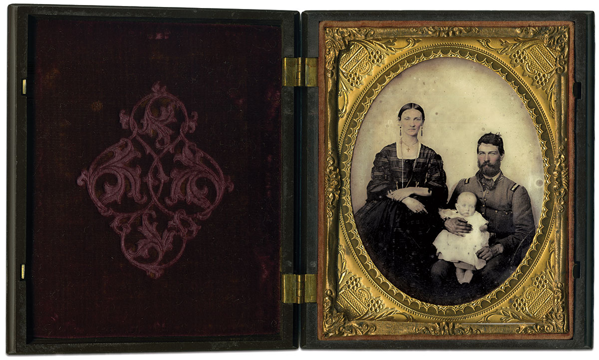 Quarter-plate ambrotype attributed to Charles R. Rees of Richmond, Va. Rusty Hicks Collection.