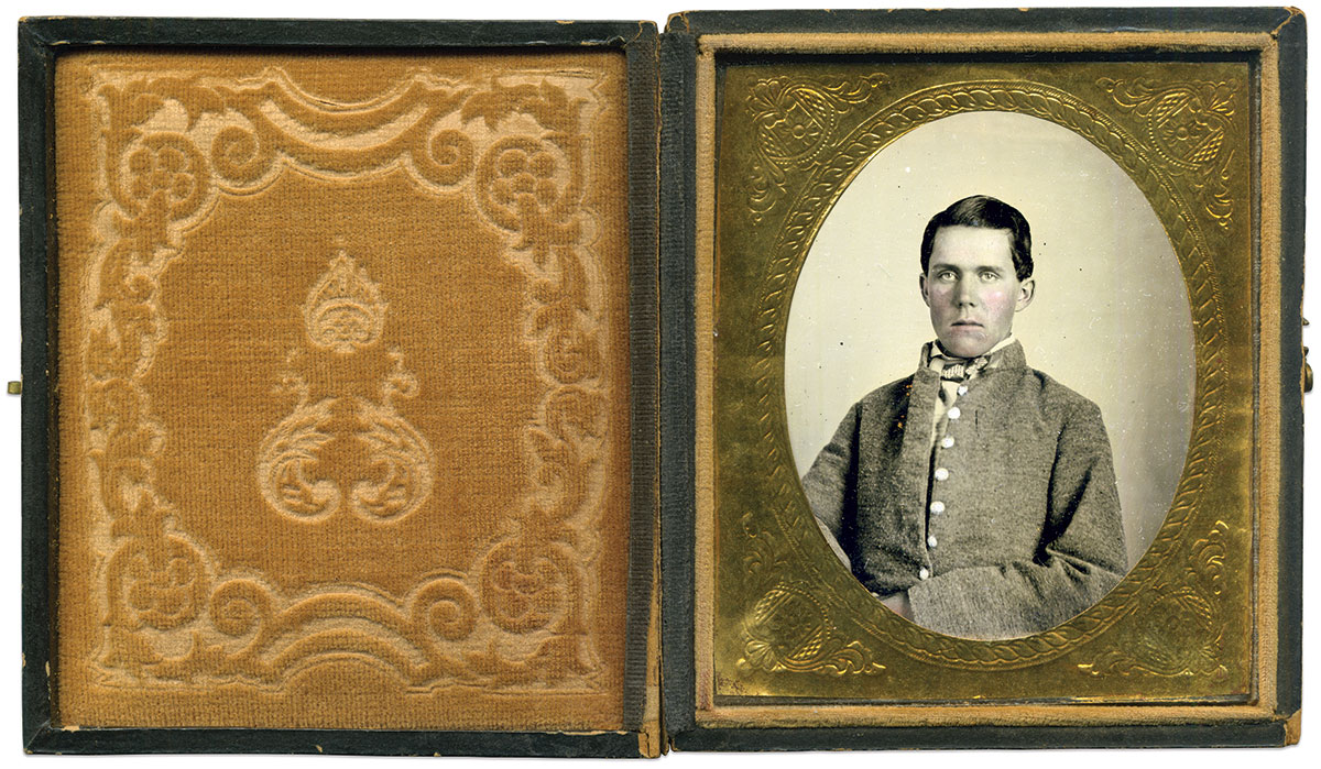 Sixth-plate ambrotype by Charles H. Lanneau of South Carolina.