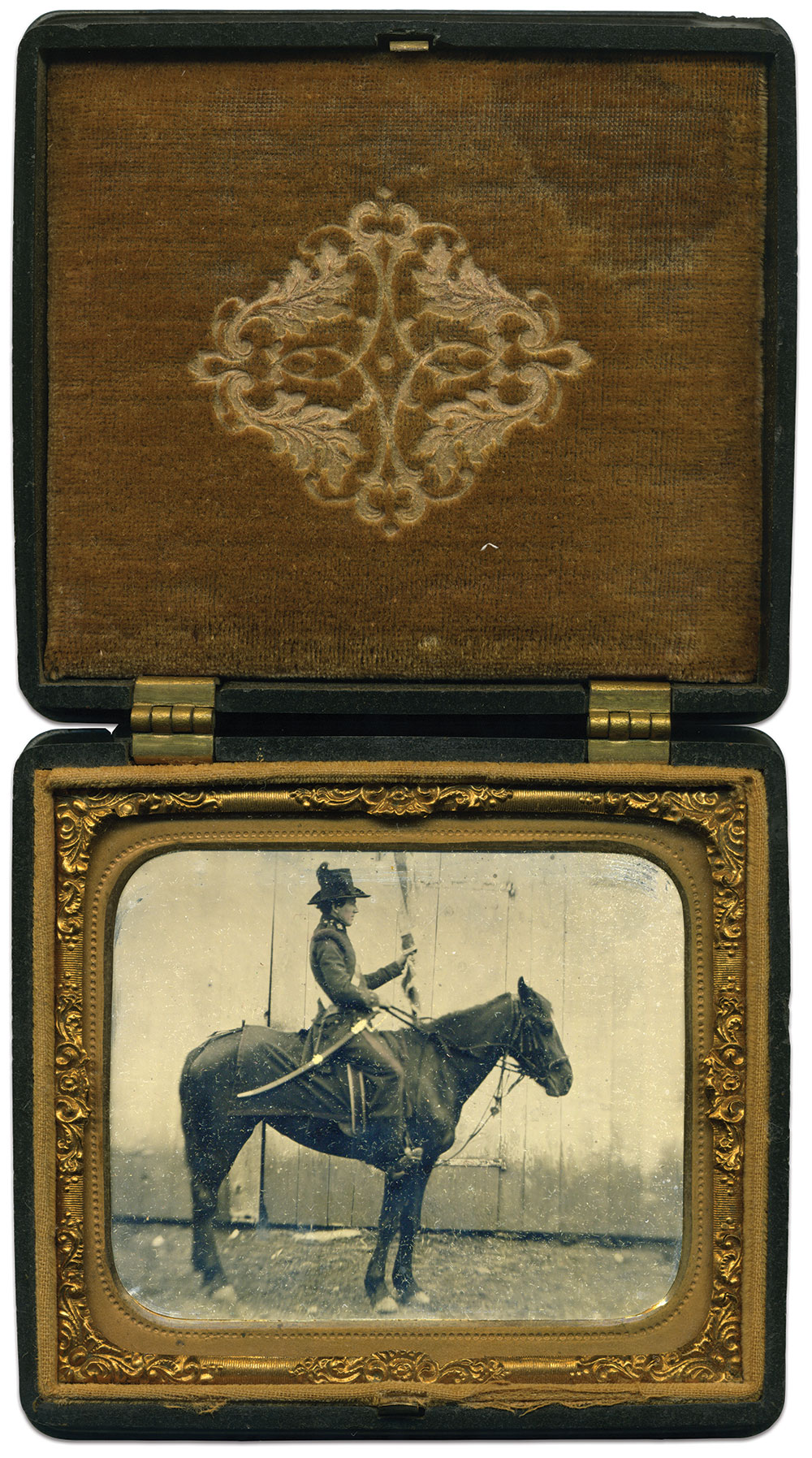 Sixth-plate tintype by an anonymous photographer.