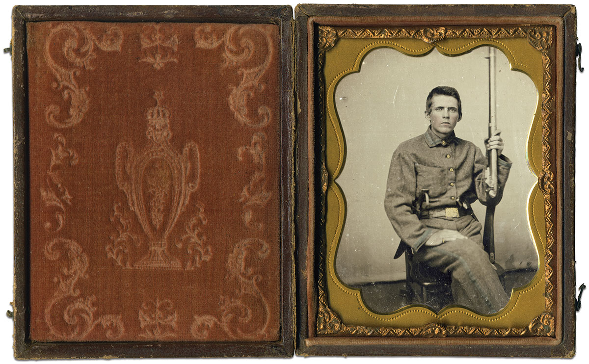 Quarter-plate tintype attributed to a Lynchburg, Va., photographer. Rusty Hicks Collection.