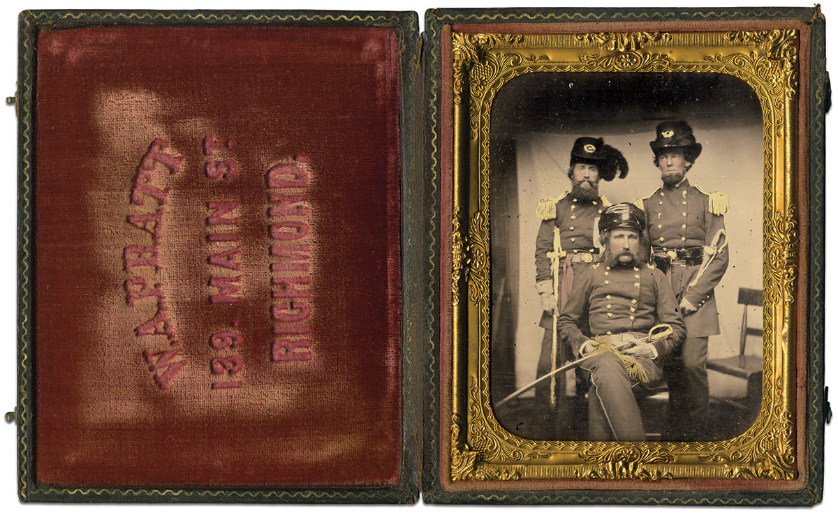 Quarter-plate ambrotype by an anonymous photographer. Rusty Hicks Collection.