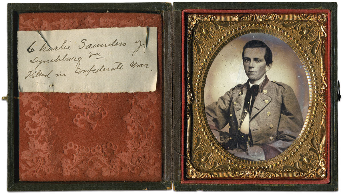 Sixth-plate ambrotype by an anonymous photographer. Rusty Hicks Collection.