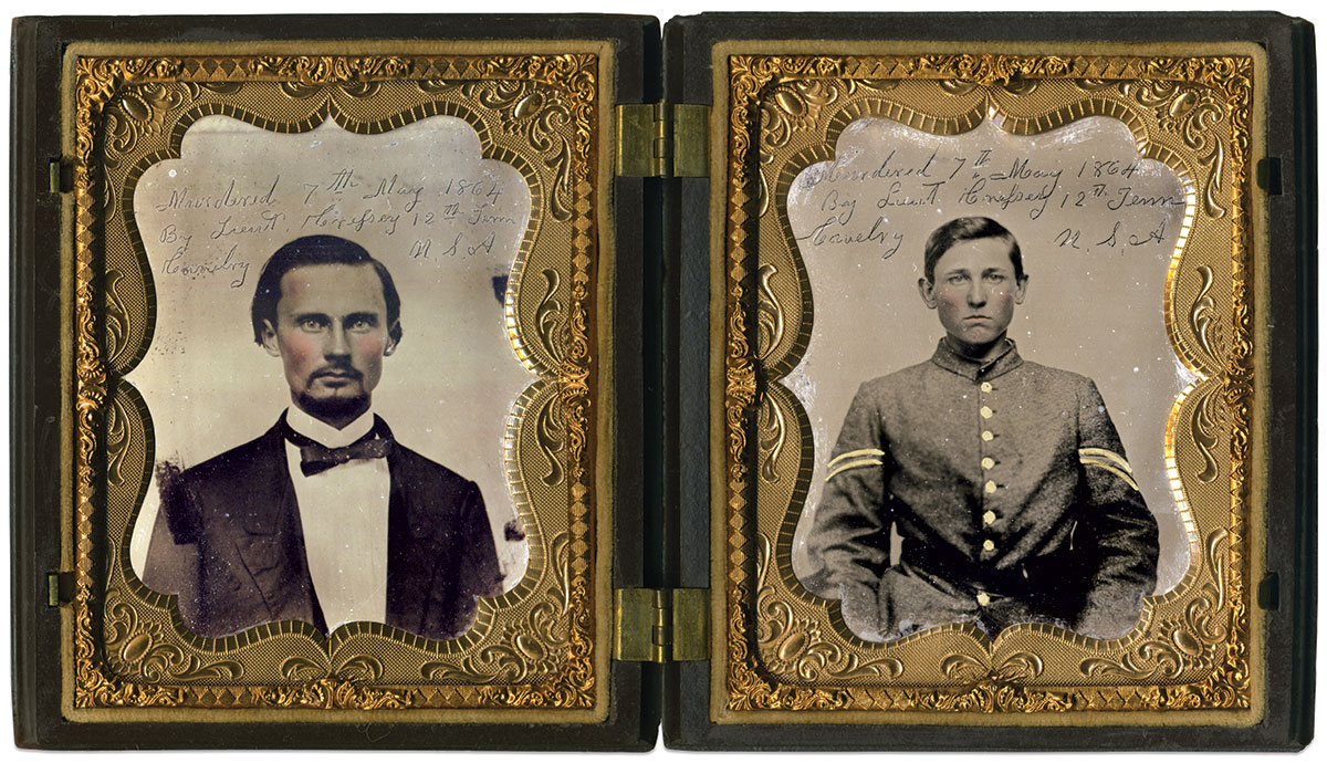 Quarter-plate tintypes by an anonymous photographer. Courtesy of Nick Periut, Army of Tennessee Civil War Art & Artifacts.
