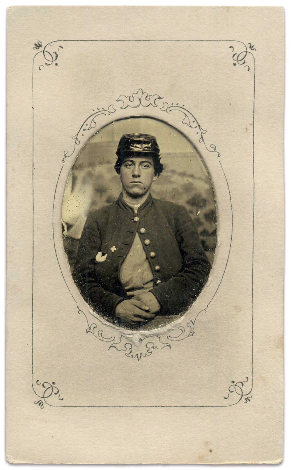 Sixteenth-plate tintype by Gibson's Photograph gallery, Army of the Potomac. John Gibson Collection.